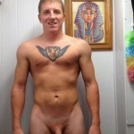 Tattooed Boy Shows His Smooth Dick